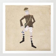 Timmy and his Performing Knees Art Print