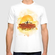 Sunset White SMALL Mens Fitted Tee