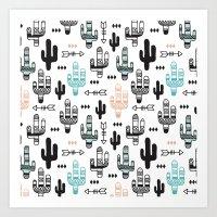 Indian Summer Cactus Gar… Art Print