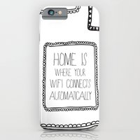 iPhone & iPod Case featuring home is where your wifi connects automatically by Sara Eshak