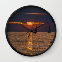 Summer Sunset On The Bal… Wall Clock