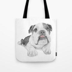 A Bulldog Puppy Tote Bag
