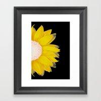 Portrait Of Summer - Yel… Framed Art Print
