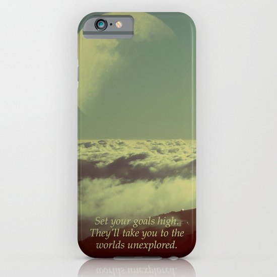 Set Your Goals High iPhone & iPod Case