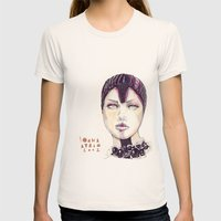 Fashion Illustration  Womens Fitted Tee Natural SMALL