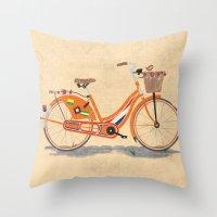 Love Holland, Love Bike Throw Pillow