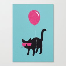 Cool Cat travels like this Canvas Print