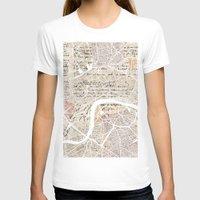 london T-shirts featuring LONDON by Mapsland