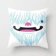 Happy Yeti Throw Pillow