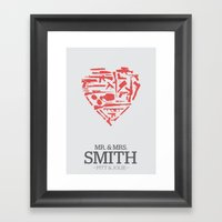 Mr. & Mrs. Smith - Minim… Framed Art Print