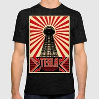 Tesla Mens Fitted Tee Tri-Black SMALL