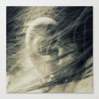 She Turned Away Canvas Print