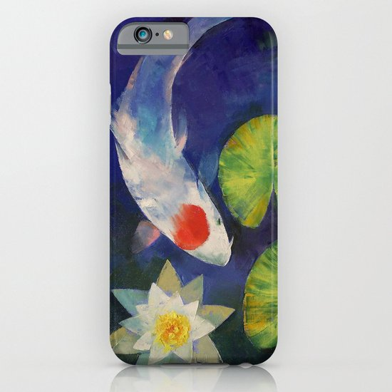 Tancho Koi and Water Lily iPhone & iPod Case