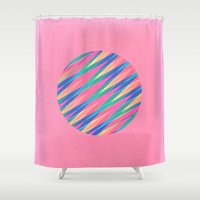 Circle Of Lines Shower Curtain