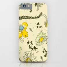 large flowers - cream and yellows iPhone 6s Slim Case