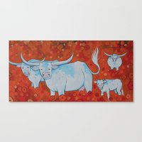 LONGHORNS Canvas Print