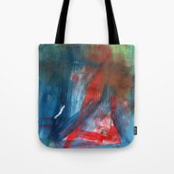 Combed Through Blue And … Tote Bag