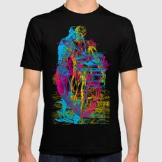 Andreae Vesalii Montage Mens Fitted Tee Black SMALL