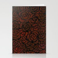 Cluster Of Roses Stationery Cards