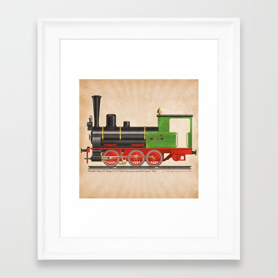Locomotive Max Framed Art Print