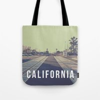 California On the Tracks Tote Bag