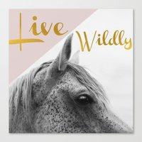 Live Wildly Canvas Print
