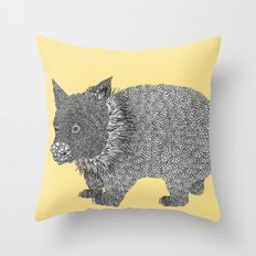 Little Wombat Throw Pillow