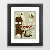 Robot Roast Framed Art Print