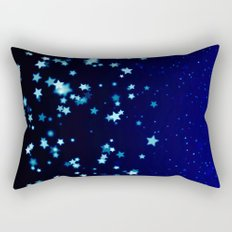 Twinkele Blue Stars Rectangular Pillow