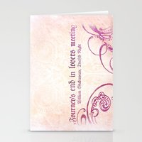 Journey's end - Shakespeare Love Quote Stationery Cards