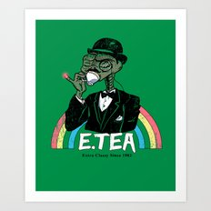 E.Tea Art Print