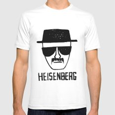 Heisenberg - Breaking Bad Sketch White SMALL Mens Fitted Tee