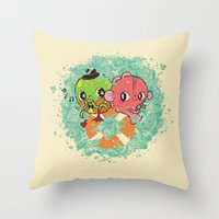 The Pond Lovers - Mr. Fr… Throw Pillow