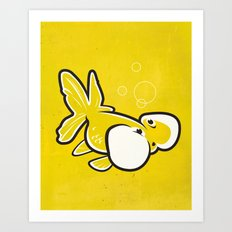 Bubble Eye Goldfish Art Print