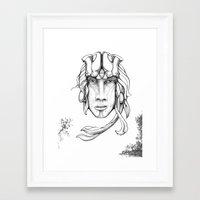 Sieldonja Re:Merging Framed Art Print