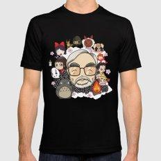 Ghibli, Hayao Miyazaki and friends Mens Fitted Tee Black SMALL