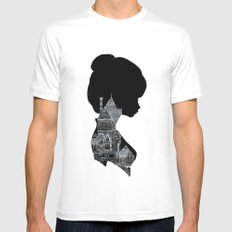 Little Houses Silhouette Mens Fitted Tee White SMALL