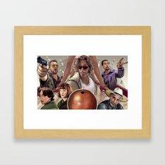 Big Lebowski (alt version) Framed Art Print