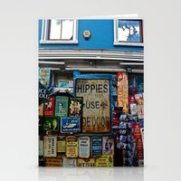 Hippies Use The Side Door Stationery Cards