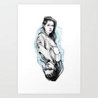 sarah and cosima Art Print