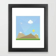 Simple plan Framed Art Print