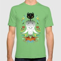 Trained Dragons Mens Fitted Tee Grass SMALL