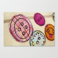 Embroidered Buttons Canvas Print