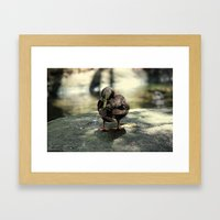 duck joy Framed Art Print