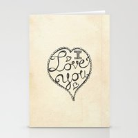 I Love You Sketch Stationery Cards