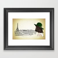 Eiffel I'm In Love Framed Art Print