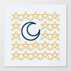 [ STAR   MOON ] - Magic collection - Midnight Canvas Print