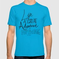 Great Adventure Mens Fitted Tee Teal SMALL