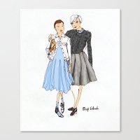 Prep School Girls Fashio… Canvas Print