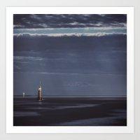 Submarine In Moonlight Art Print